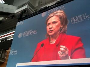 HillaryBigScreenInternetFreedom