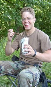 Soldier eating