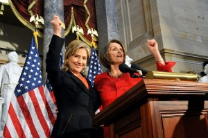 Clinton-Pelosi-march-2010-300x199